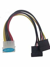 Molex to Two SATA Lead, Molex to 2 SATA Internal Power Splitter Cable