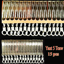 15X Thai Style Yant 5 Teaw Clip Pocket Tie Stainless Steel Thai Buddha Amulet C1