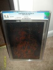 LADY DEATH THE CRUCIBLE #1 CGC 9.6 BRONZE FOIL BLACK LEATHER VARIANT COVER CHAOS
