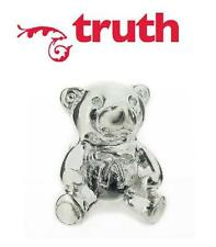Genuine TRUTH PK 925 sterling silver teddy bear European charm bead