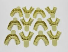 Dental Plastic Disposable Impression Trays Perforated Autoclavable LM #4 12 Pcs