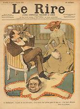"""le rire - colour print from 1900 """" parfaitement - la peau de ma belle mere   """""""