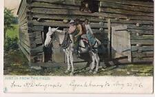 Farm Laborers Just In From Field Kids On Horse Black Americana PM1906 Postcard