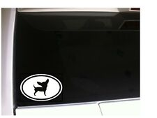 """Chihuahua Oval Vinyl sticker Car Decal 6"""" *R06 pets animals puppies dog"""
