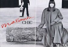 PUBLICITE ADVERTISING 114 1993 MAX MARA prêt à porter Carla Bruni (2 pages)