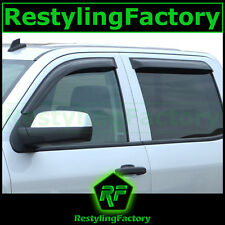 14-15 Silverado 1500 CREW CAB Smoke Tint 4 Door Window Visor Rain Sun Guard 2015