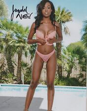Jezabel Vessir Taking Her Bra Off Wow Adult Model Signed 8x10 Photo COA Proof