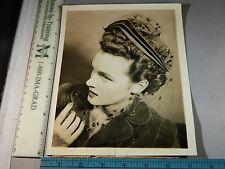 Rare Historical Original VTG 1942 Mme Pauline NYS Hairdressers Hat Fashion Photo
