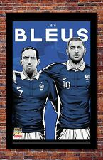 2014 FIFA World Cup Soccer Event Brazil | TEAM FRANCE Poster | 11 x 17 Inches