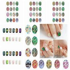 Special Rainbow Glass Foil Galaxy Nail Art Transfer Sticker Decal DIY Gel Tips