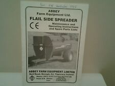 abby flail side sprader tractor drawn maintenance manual