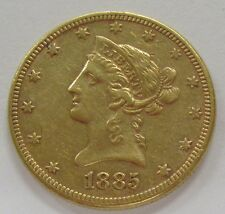 1885 US Gold Liberty $10 Dollar *Old US $10 Gold Bullion Coin