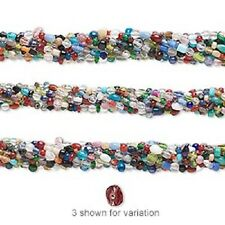 "1269AS BULK Glass Bead Mix, Small 3mm to 6mm, 16"" strands, 10 Qty"