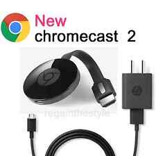 Google Chromecast 2 2015 HDMI Media Streamer ✔✔ BLACK ✔✔ No Customs Fees ✔✔