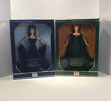 Barbie Royal Jewels Empress Of Emeralds,Queen Of Sapphires 'Swarovski ' Set Of 2