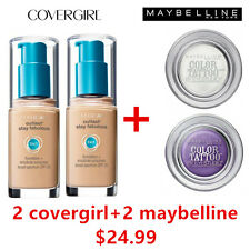TWO Covergirl Outlast 3 in 1 Foundation 805 IVORY + TWO Maybelline Eyeshadow