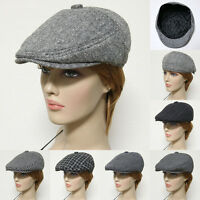 New Gatsby Newsboy Cap Wool Acylic Men Women Ivy Hat Golf Flat Cabbie Black Gray