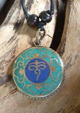 ♥ Kette ♥ NEPAL Buddha's Eye Anhänger Handarbeit Ethno pendant
