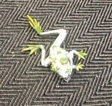 "Stunning And Rare Signed Reja 1"" Vintage Frog Pin Brooch"