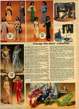 1977 PAPER AD 2 Pg Toy Doll Cher Sonny Charlie's Angels Bionic Woman Donny Marie