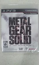 Metal Gear Solid The Legacy Collection PS3 New & Sealed