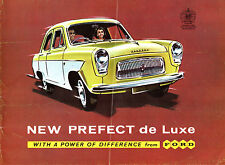 Ford Prefect 107E De Luxe 1959-61 UK Market Foldout Sales Brochure Anglia 100E