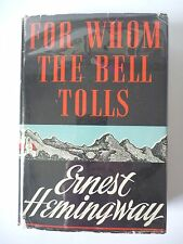 FOR WHOM THE BELL TOLLS by ERNEST HEMINGWAY 1940 FIRST EDITION HC w/ JACKET VG++