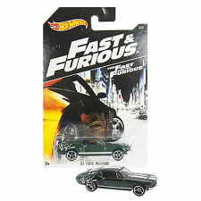 NEW 2014 Hot Wheels 1:64 Die Cast Car Fast & Furious Green '67 Ford Mustang 3/8