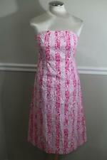 Lilly Pulitzer Pink San Diego Zoo Animal Strapless Spring Dress Size 6