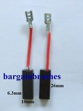CARBON BRUSHES for HILTI HAMMER DRILL TP400 TE52 TP 400 TE 52 6.3X10X26 PAIR-D50