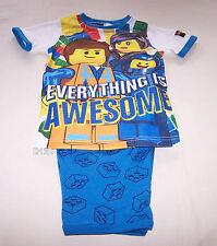Lego Movie Boys Everything Is Awesome White Blue Printed Pyjama Set Size 4 New