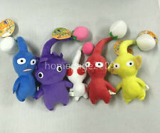 "NEW set of 5 Game Plush Pikmin Plush Buds~6""-9"" Stuffed plush"