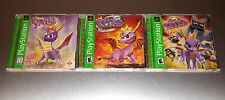 Spyro the Dragon 1 + 2 + 3 Trilogy ☆☆ Complete w/ MINT CASES ☆ PS1 Playstation 1
