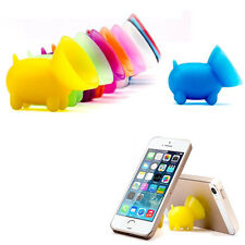 2x Pig Suction Silicone Phone Stand Holder For iPhone 7 6s plus 5s Samsung HTC