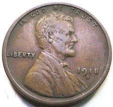 1918 S Lincoln Wheat Cent ~ Higher Grade Coin ~ Better Details ~ Xf