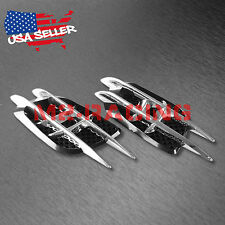 Universal ABS Chrome Air Fender Black Grill Body Side Vents Car SUV Decoration