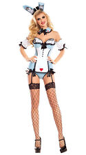 Women's Alice in Wonderland Playboy Bunny Halloween Costume Large NWT