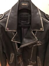 ZARA BLACK LEATHER BIKER JACKET XL Givenchy Balmain Rick Owens Philipp Plein
