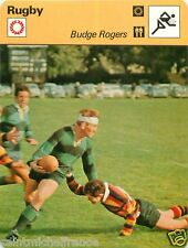 FICHE CARD :  Budge Rogers  ENGLAND ANGLETERRE  RUGBY 70s