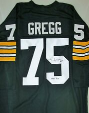 Packers FORREST GREGG Signed Custom Green Throwback Jersey AUTO w/ HOF '77 - COA