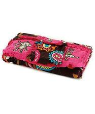 NEW CUTE MONKEY DESIGN WESTERN RAGBAG PATCHWORK TRIFOLD LADIES GIRLS WALLET PINK