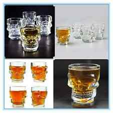 6 x 3D SKULL Shot Glasses Skeleton Drinking Spirit Glass Shooter Vodka Whiskey