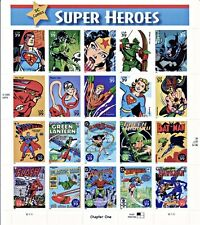 DC SUPER HEROES USA STAMPS 20 X 41 SCOTT # 4084 BATMAN FLASH SUPERMAN NEW MNH