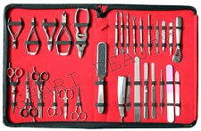 MANICURE AND PEDICURE NEW 30 PCS FULL RANGE GERMAN STAINLESS STEEL  TOOL SET