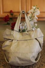 MS. BY MARTINE SITBON Light Grey Patent Leather Tote Shoulder Bag (190