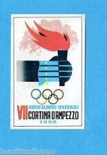 OLYMPIA 1896-1972-PANINI-Figurina ADESIVA  n.277- CORTINA D. 1956 - POSTER -Rec