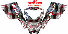 ARCTIC CAT SNOWMOBILE CROSSFIRE M SERIES DECAL WRAP KIT AMERICAN FLAG V1  DECAL