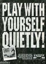 "1994 Print Ad of Dauz Drum Pads ""Play With Yourself Quietly!"""