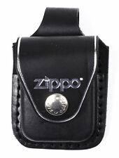 "Zippo Lighter ""Black Leather Pouch"" w/Belt Loop, LPLBK"