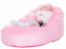 Baby Bean Bag In Pink Spotty Design - Including filling & New Design